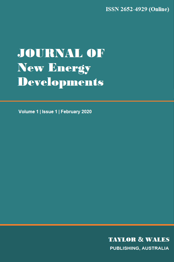 Journal of New Energy Developments | Taylor & Wales Publishing